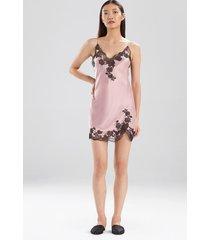 natori lolita lace chemise, women's, 100% silk, size l
