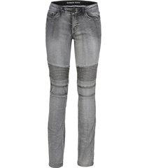 jeans skinny in stile biker (grigio) - rainbow