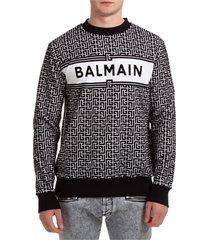 balmain eyelike sweatshirt