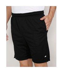 bermuda masculina esportiva ace com short compressão e bolsos preta