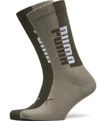 puma men seasonal sock 2p underwear socks regular socks grön puma