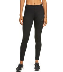 women's odlo active eco warm tights, size x-large - black