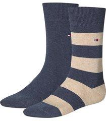 tommy hilfiger sokken 2-pak stripe beige