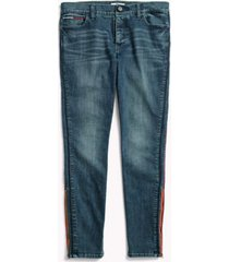 tommy hilfiger women's adaptive piped jegging dark wash - 8