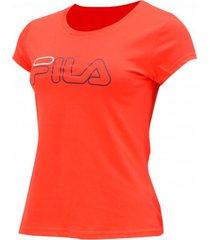 camiseta iconic everywhere logo tee fila mujer flm49-ts011 rojo