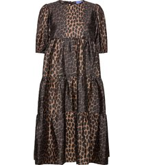 lilicras dress knälång klänning brun cras