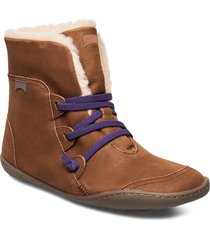 peu cami shoes boots ankle boots ankle boots flat heel brun camper