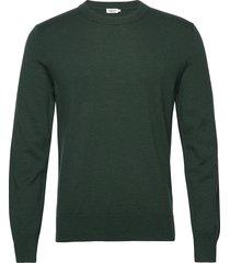 m. cotton merino basic sweater gebreide trui met ronde kraag groen filippa k