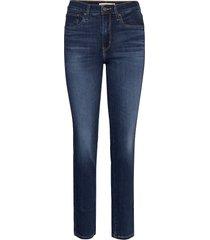 724 high rise straight carbon skinny jeans blå levi´s women