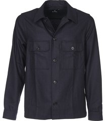 overshirt shirt in blue wool
