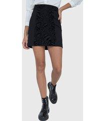 falda io punto roma negro - calce regular