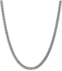 "curb link 18"" chain necklace in sterling silver"