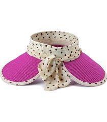 bowknot di punti della banda di estate femminile registrabili senza il cappello superiore del parasole di modo.