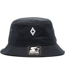 marcelo burlon county of milan chapéu black label x starter - preto