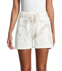 allison new york women's tie-dyed drawstring shorts - ivory - size m