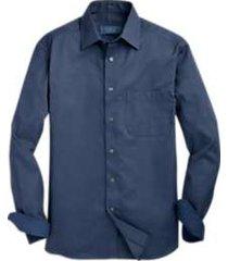joseph abboud indigo sport shirt textured blue