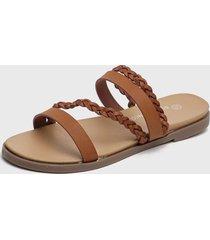 sandalia marrón bonnyfranco