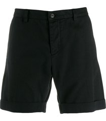 ami paris men bermuda shorts - black