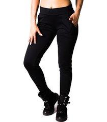 calça adamas preta fitness com bolsos frontrais