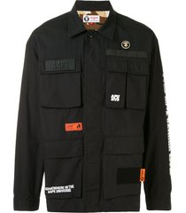 aape by *a bathing ape® patchwork jacket - black