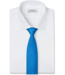 cravatta su misura, lanieri, biella blu elettrico, quattro stagioni | lanieri