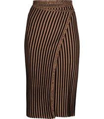 y/project wraparound striped skirt - black