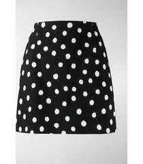 saint laurent polka dot skirt