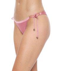 calcinha alto giro string canelle shine rosa