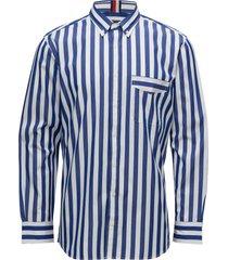 be bold striped shir skjorta business blå tommy hilfiger