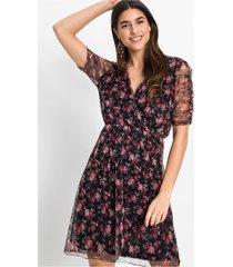 gedessineerde mesh jurk