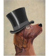 "fab funky red setter, formal hound and hat canvas art - 27"" x 33.5"""