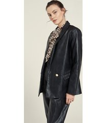 motivi blazer over in similpelle donna nero
