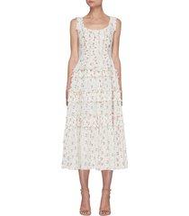 'theresa' floral print sleeveless dress