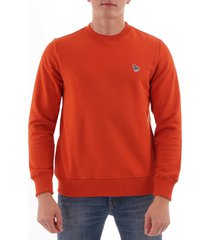 paul smith zebra logo sweatshirt - dark orange  m2r-027rz