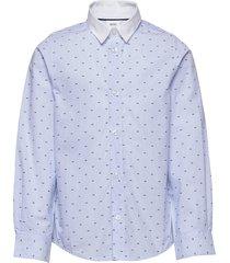 long sleeved shirt overhemd blauw boss