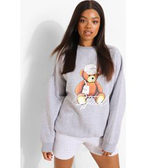 oversized beren sweater, grey marl