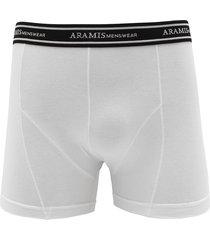 cueca aramis boxer logo branca