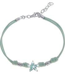 bracciale stella in argento 925 rodiato e cristalli per bimbi