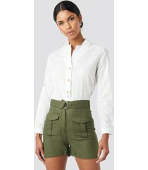 trendyol pocket detailed shorts - green