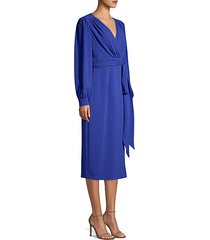 dlessa long-sleeve belted dress