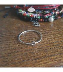 srebro: pierścionek slim eclipse każdy rozmiar