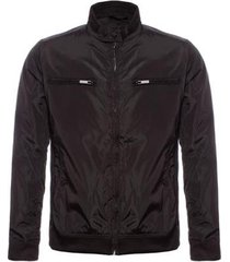 jaqueta aleatory com bolso zíper masculina