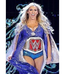 wwe  charlotte flair  in blue w/belt on    2.5 x 3.5 fridge magnet