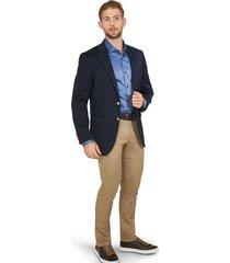 blazer clásico azul oscuro botones dorados para hombre 89075