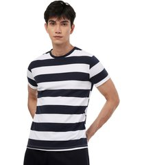 camiseta franjas hombre color blanco, talla xs