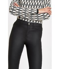 river island womens black coated molly mid rise jeggings