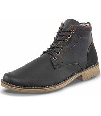 botas casual demetrio negro para hombre croydon