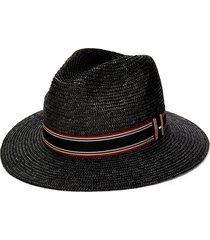 saint laurent panama style hat - black