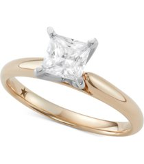 macy's star signature diamond princess cut solitaire engagement ring (1 ct. t.w.) in 14k gold or white gold