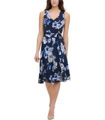 tommy hilfiger bloom floral fit & flare dress